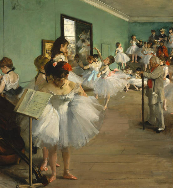 Painting - The Dance Class by Edgar Degas