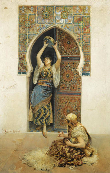 Belly Dancing Painting - The Dance by Gustavo Simoni