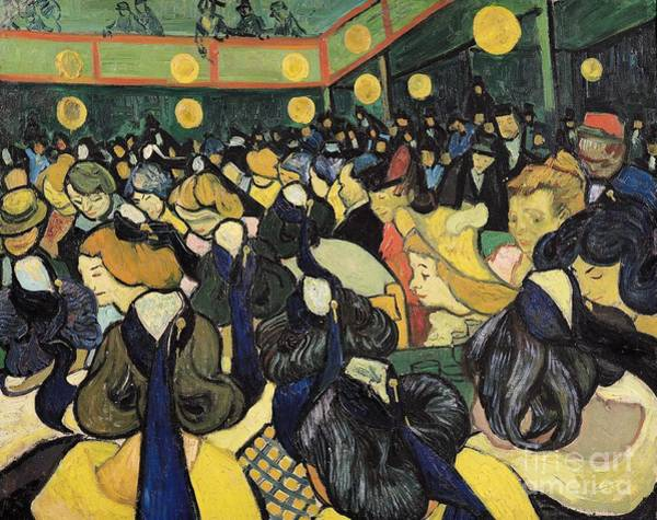 The Dance Painting - The Dance Hall At Arles by Vincent Van Gogh