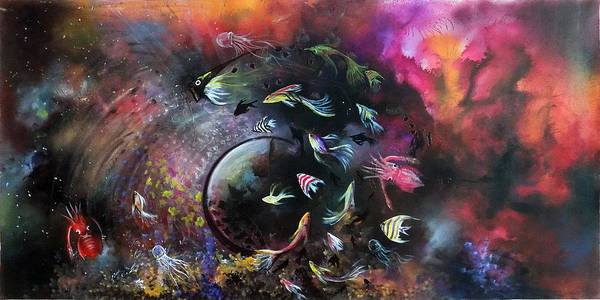 Wall Art - Painting - The Dance In Ocean ......the Circle Of Life by Asp Arts