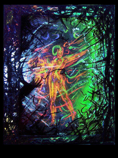 Blacklight Painting - The Dance by Jerry Avalos