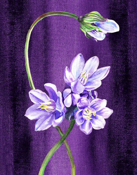 Painting - The Dance Of Purple Flowers by Irina Sztukowski