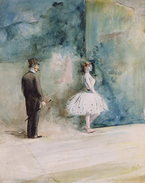 Jeans Drawing - The Dancer by Jean Louis Forain