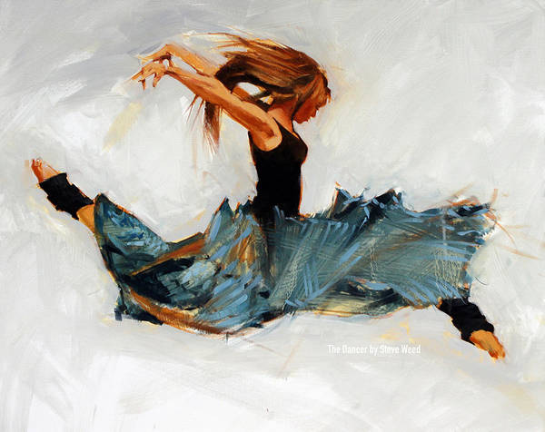 Dancer Wall Art - Painting - The Dancer No. 5 by Steve Weed