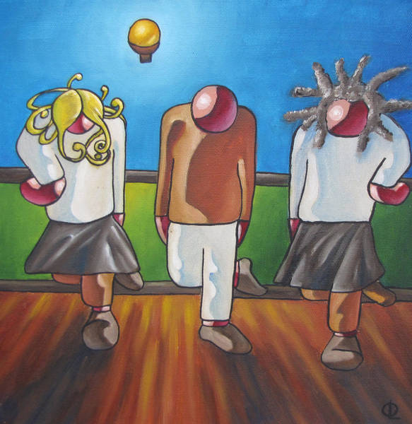 Irish Dance Painting - The Dancers by Olivier Longuet