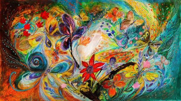 Wall Art - Painting - The Dancing Butterflies by Elena Kotliarker