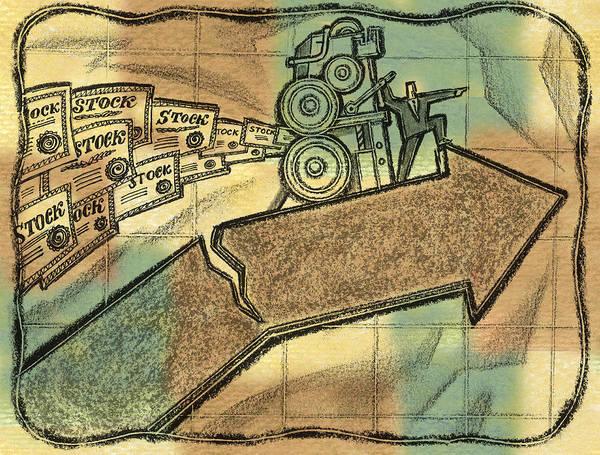 Wall Art - Painting - The Danger Of Stock Market by Leon Zernitsky