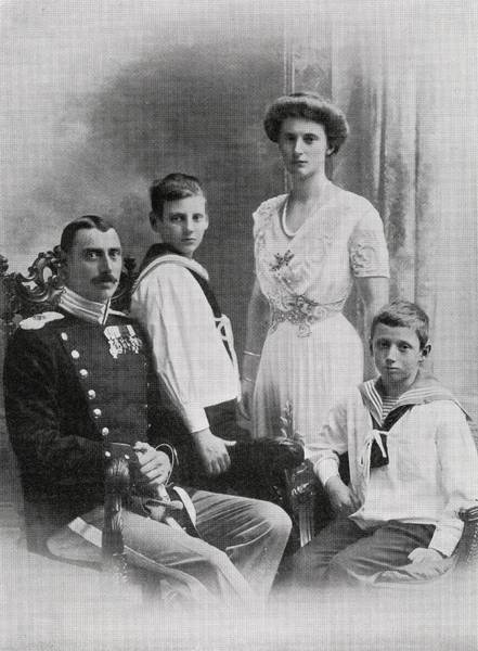 Wall Art - Drawing - The Danish Royal Family From The Book by Vintage Design Pics