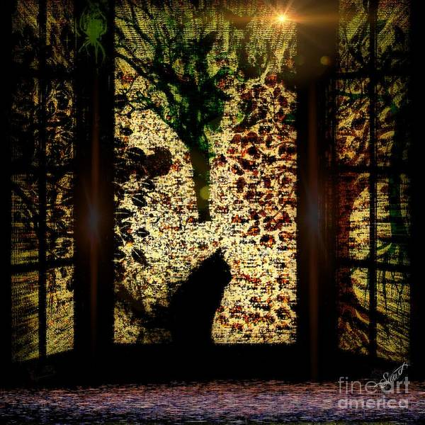 Digital Art - The Dark Garden by Swedish Attitude Design