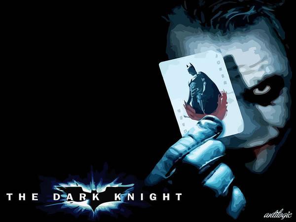 Digital Art - The Dark Knight by Maye Loeser
