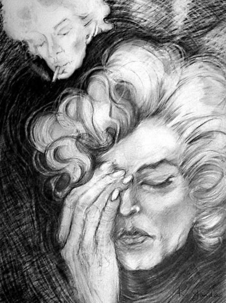 Drawing - The Dark Side Of Marilyn by Katt Yanda