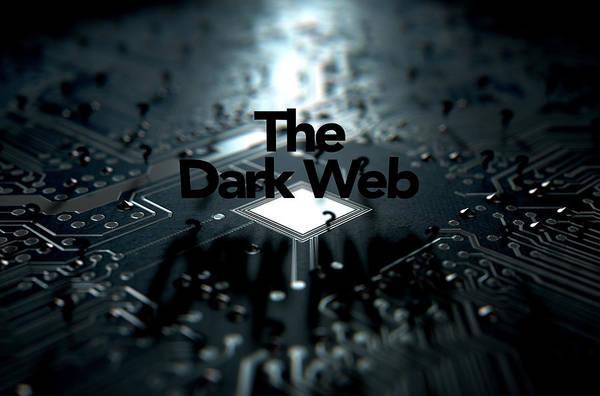 Web Digital Art - The Dark Web Concept by Allan Swart