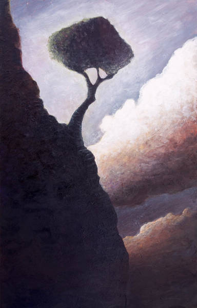 Lone Tree Painting - The Darkside Of Hope Valley by Ethan Harris