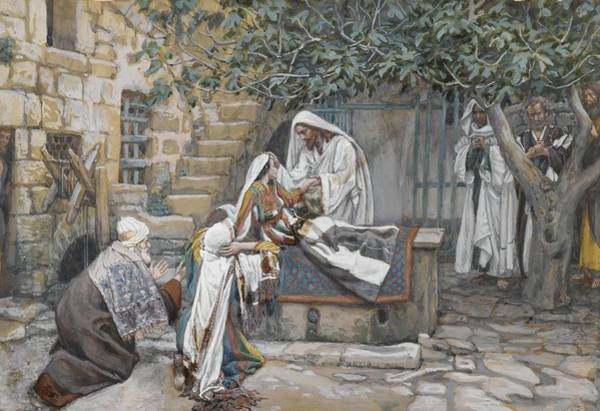Sick Painting - The Daughter Of Jairus by Tissot