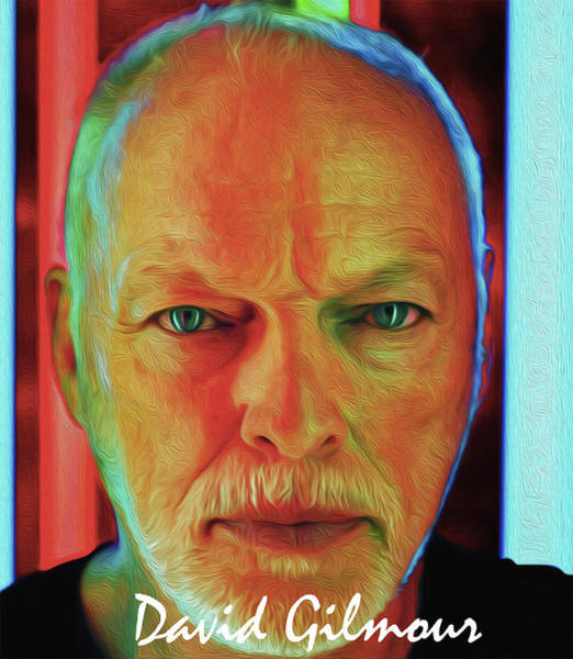 David Gilmour Painting - The David Gilmour By Nixo by Never Say Never