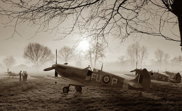 Royal Air Force Digital Art - The Day Begins - Sepia by Mark Donoghue