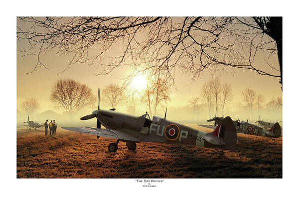Royal Air Force Digital Art - The Day Begins - Titled by Mark Donoghue
