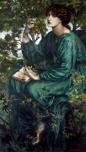Gabriel Painting - The Day Dream by Dante Gabriel Rossetti