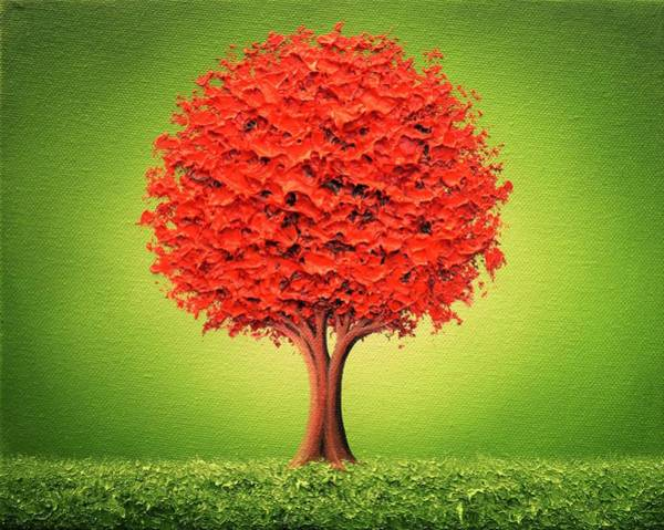 Wall Art - Painting - The Day In Red by Rachel Bingaman