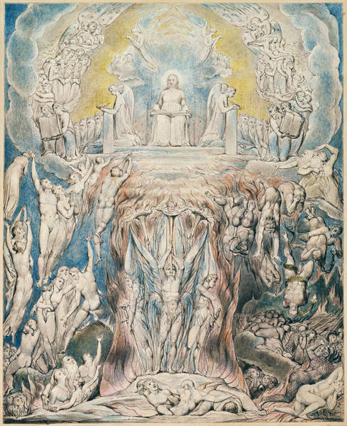 William Blake Drawing - The Day Of Judgment by William Blake