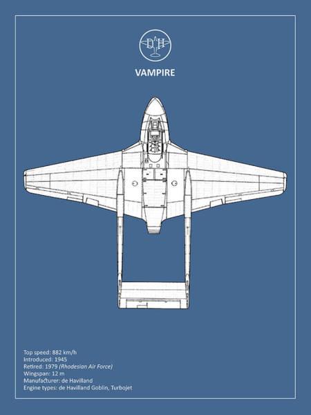 Wall Art - Photograph - The De Havilland Vampire by Mark Rogan