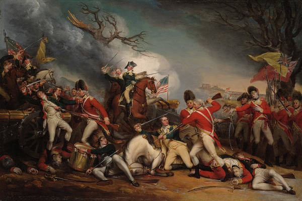 Wall Art - Painting - The Death Of General Mercer At The Battle Of Princeton, Jan 3, 1777 by John Trumbull
