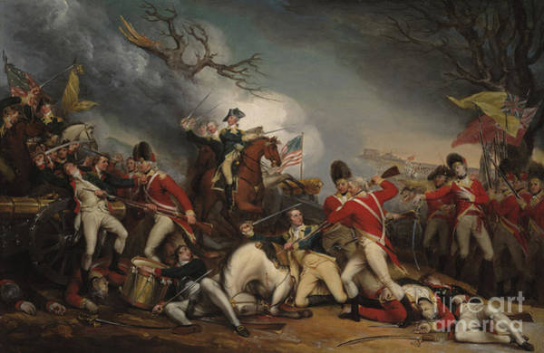 Regiment Wall Art - Painting - The Death Of General Mercer At The Battle Of Princeton, January 3, 1777  by John Trumbull