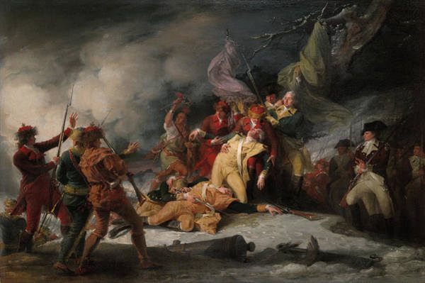 Quebec Painting - The Death Of General Montgomery In The Attack On Quebec, Dec 31, 1775 by John Trumbull