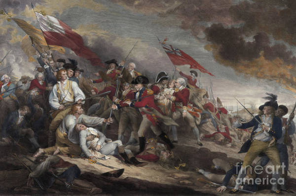 Dying Painting - The Death Of General Warren At The Battle Of Bunker Hill, 17th June 1775 by John Trumbull