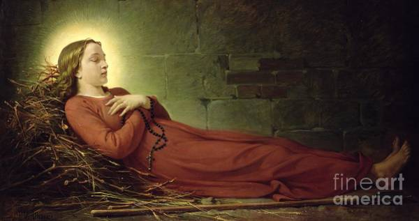 The Shepherdess Wall Art - Painting - The Death Of Germaine Cousin The Virgin Of Pibrac by Alexandre Grellet