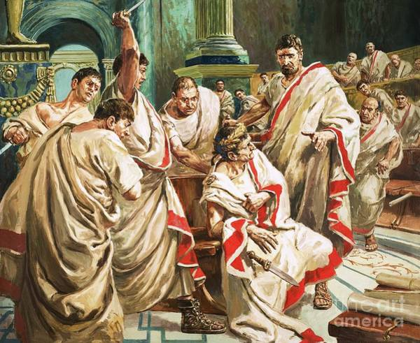 Inside Painting - The Death Of Julius Caesar  by C L Doughty