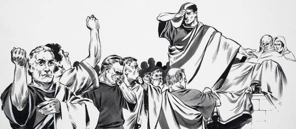 Wall Art - Painting - The Death Of Julius Caesar by English School
