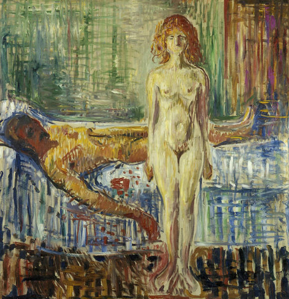 Norwegian Painting - The Death Of Marat II by Edvard Munch