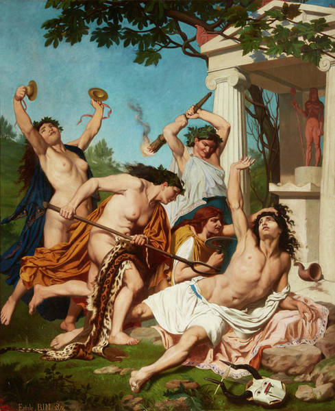 Sickle Painting - The Death Of Orpheus by EmilJean Baptiste Philippe Bin