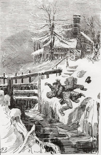 Wall Art - Drawing - The Death Struggle In The Lock.  Aint I by Vintage Design Pics