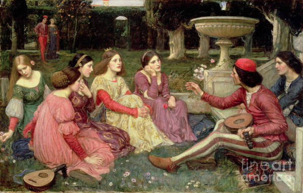 Wall Art - Painting - The Decameron by John William Waterhouse