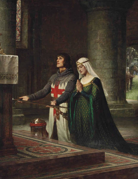 Wall Art - Painting - The Dedication by Edmund Leighton