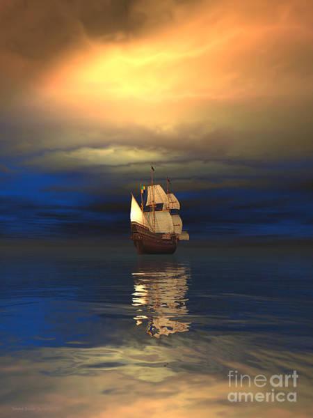 The Deep Blue Sea Art Print by Sandra Bauser Digital Art