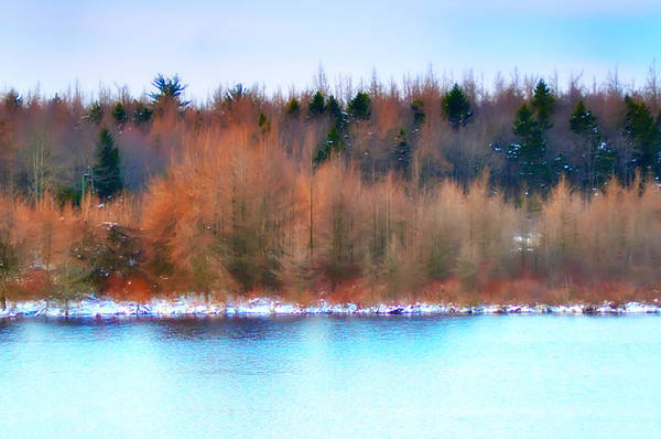 Poconos Wall Art - Photograph - The Deep Forbidden Lake by Bill Cannon