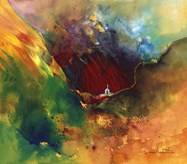 Painting - The Deep Valley Of Faith by Miki De Goodaboom
