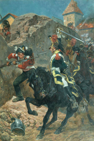 Lance Painting - The Defence Of Hougoumont by Richard Caton Woodville