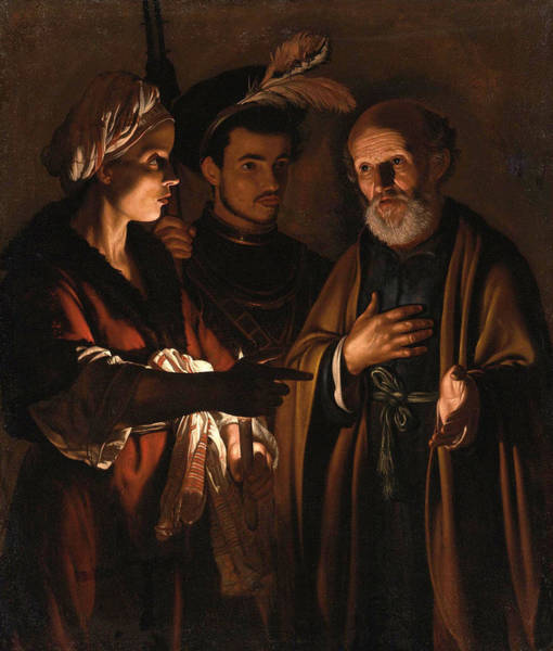 Denial Painting - The Denial Of Saint Peter by Adam de Coster
