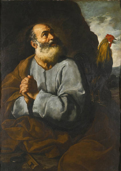 Denial Painting - The Denial Of Saint Peter by Francisco Collantes