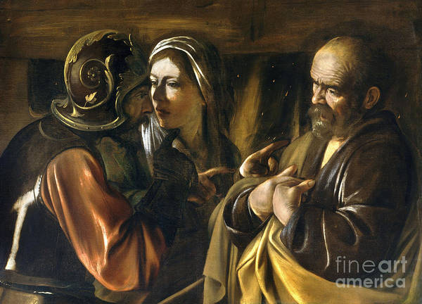 Denial Painting - The Denial Of Saint Peter by MotionAge Designs