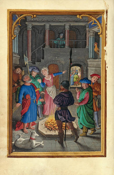 Denial Painting - The Denial Of Saint Peter by Simon Bening
