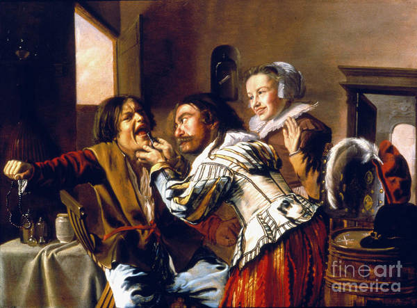 Photograph - The Dentist, 1629 by Granger
