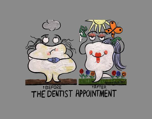 Painting - The Dentist Appointment T-shirt by Anthony Falbo