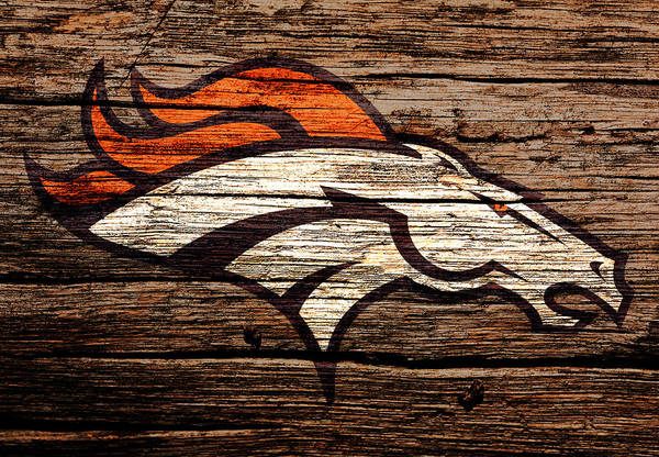 Wall Art - Mixed Media - The Denver Broncos 8b by Brian Reaves