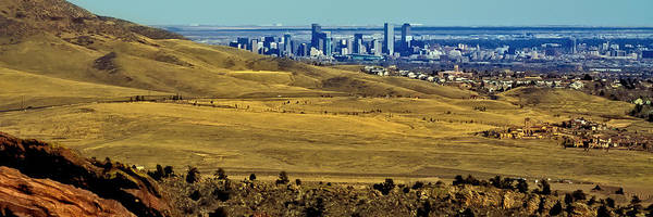 Photograph - The Denver Colorado Skyline 3 by David Patterson
