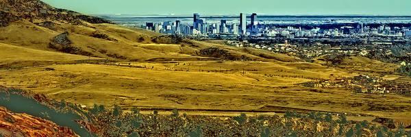 Photograph - The Denver Colorado Skyline 6 by David Patterson